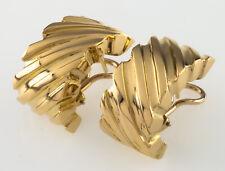 Tiffany & Co.Vintage 18k Oro Stretto Orecchini W/ Omega Posteriori Belli