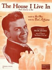 THE HOUSE I LIVE IN (THAT'S AMERICA TO ME) Music Sheet-1942-FRANK SINATRA