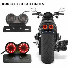 Motorcycle LED Integrated Running Turn Signal Tail Light License Plate Bracket