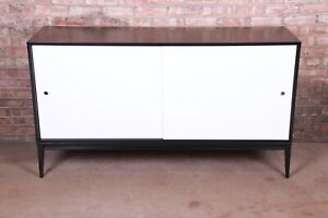 Paul McCobb Planner Group Black and White Lacquered Sideboard Credenza