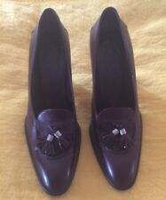 TOD'S AUTHENTIC brown leather heels w/tassel Size 8(FITS 7 ONLY-CAREFUL BIDDING)