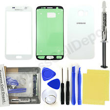 Samsung Galaxy S6 G920 Replacement Front and Back Glass Repair Kit White