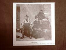 The quartet o Il quartetto Quadro di WM. T. Dannat Stampa del 1888