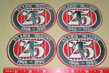 Vintage 1990 Atlanta Falcons 25th Anniversary Patch Lot of 4