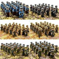21pcs WW2 Military Soldiers France US Britain Army + Weapon for Lego Minifigur