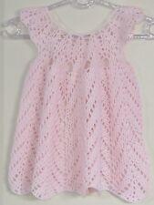 New Handmade Crochet  Size 3T Pink Chevron Cap Sleeves Dress