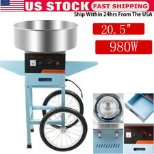 Electric Commercial Cotton Candy Machine Sugar Floss Maker Party 980w Blue Usa