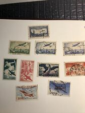 timbres poste aerienne france obliteres
