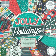 "First Edition 6"" x 6"" Paper Pad ~ JOLLY HOLIDAYS (48 Sheets)"