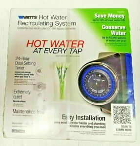 Watts 500800 Instant Hot Water Recirculating Pump System with Timer 1 Day Ship