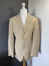 "Men's Hugo Boss Chest 44"" - 100% Linen Jacket BlazerModel Jones-H Beige Cream"