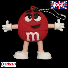 1 Red M&M Character, Novelty 128MB USB Pen Drive, USB Flash Drive Memory Stick