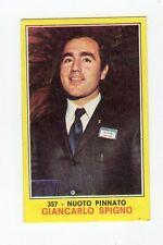figurina PANINI CAMPIONI DELLO SPORT 1970-71 N. 357 NUOTO PINNATO SPIGNO