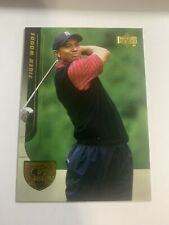 New listing 2004 Upper Deck Golf Tiger Woods Gold PGA Tour Card #1