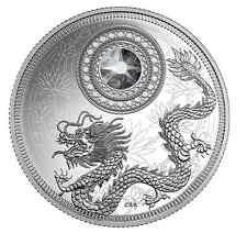 2016 BIRTHSTONES - April $5 1/4 oz Fine Silver Coin with Swarovski® Crystal