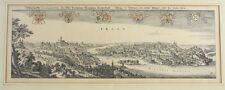 Matthaus Merian  (Swiss 1593-1650) Engraving Panoramic View of Prague