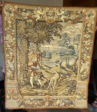 Antique Aubusson Style Wall Hanging Tapestry - 130 X 140 Cm