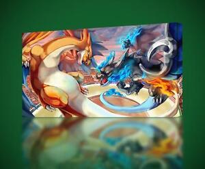 CHARIZARD Battle Pokemon CANVAS PRINT Wall Art Decor Giclee *4 Sizes* CA150