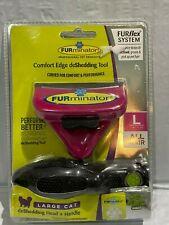 Furminator® Furflex™ comfort Edge DeShedding tool with Handle for a cat