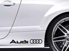 Audi Vinyl Decal Stickers X2 (choose Color)