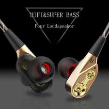 HIFI In-Ear Dual Driver Earphones Stereo Bass Sport Headphone Monitor Earbuds