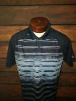 Oakley Golf Mens Medium Blue Tie Dye Short Sleeve Golf Polo Shirt NWOT