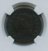 "1814 Large Cent Crosslet 4 S-294 Super Scarce AU Details NGC ""corrosion"" noted"