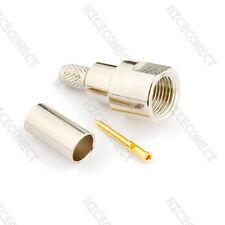 FME Male Plug Straight Crimp Connector for RG58 LMR195