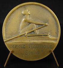 Médaille Aviron 1929 Lucien Cheron cercle nautique Stella sport rowing medal