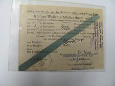 Kleiner Wehrmachtfahrschein,Teil 2,Gleiwitz nach Wien,Landesschützen Batl 337