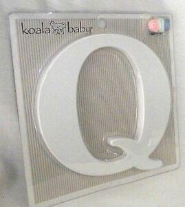 Letter Q Uppercase Koala Baby White Nursery Wall Decor Ribbon Family Kids NEW