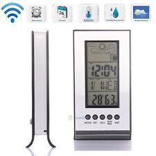 Indoor/Outdoor Wireless Weather Station Clock Digital Temperature Humidity Meter