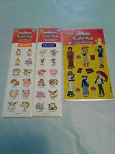 3 New Sheets Sandylion Pokemon Collector Stickers Lot, Vintage 1998, Eevee, Holo