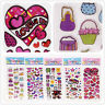 5 Sheets Children Figurer Stickers Lot Teddy Bear Love Kids Girls Reward Gift Us