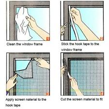 #QZO 200cmx 150cm DIY Flyscreen Curtain Insect Fly Mosquito Bug Window Mesh Scre