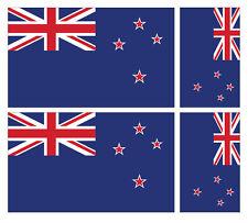 4 X NEW ZEALAND FLAG VINYL CAR VAN IPAD LAPTOP STICKER