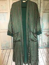 Vtg Victoria's Secret Striped Robe M/L with Inside Terry Cloth 90's Metallic