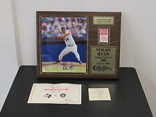Nolan Ryan AUTOGRAPHED 300th Win Plaque with TICKET STUB + COA - ONLY 1000 MADE!