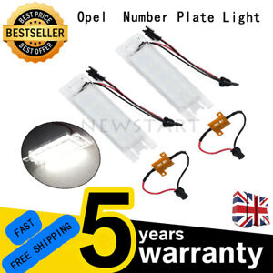 Vauxhall Opel Astra H Corsa C/D Zafira B Adam for LED License Number Plate Light