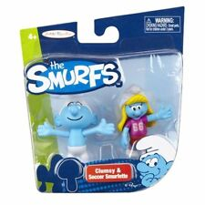 The Smurfs Clumsy Smurf & Soccer Smurfette Action Figure 2 Pack Brand New