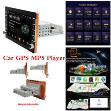 Android 8.1 cuatro núcleos 8in SINGLE DIN Wifi Gps Bluetooth estéreo de automóvil FM reproductor de MP5