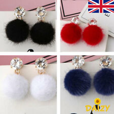 DANGLE EARRINGS FLUFFY CUTE EARRINGS FLUFFY DROP EARRINGS CRYSTAL DANGLE EARRING