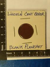 LINCOLN CENT USA ERROR BLANK PLANCHET *