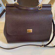 DOLCE & GABBANA Tote Shoulder Bag Regular MISS SICILY Purple