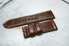 Di Stefano Brown Alligator Strap For Panerai 26mm by 22mm New !