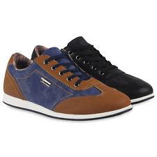 Sportliche Herren Sneakers Low Freizeit Turnschuhe Denim 79555 Schuhe