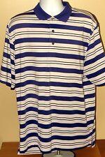 Footjoy FJ Striped Laurel Golf Club Polo Polyester Spandex Shirt Mens XL Montana