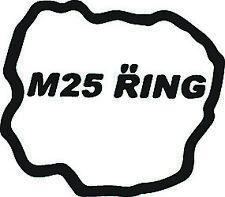 m25 ring nurburgring sticker black , race , track , jdm