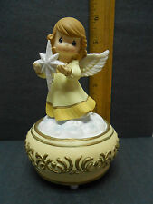Precious Moments Angel Holding Nativity Star - music box plays Joy to The World