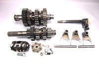 1985 85 Kawasaki KX250 KX 250 Transmission Shift Forks Drum Gear Changer Shaft